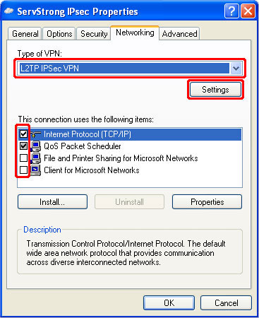 How to Setup a IPsec VPN on Windows XP Step 14