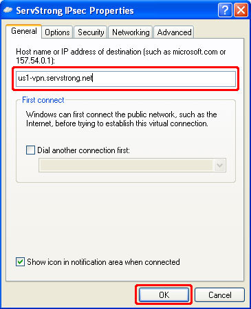 How to Setup a IPsec VPN on Windows XP Step 18
