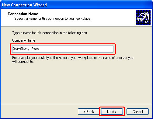 How to Setup a IPsec VPN on Windows XP Step 6