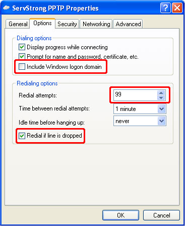 How to Setup a PPTP VPN on Windows XP Step 10