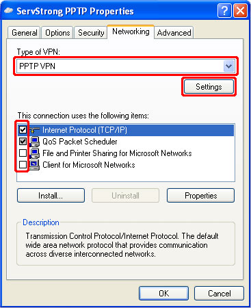 How to Setup a PPTP VPN on Windows XP Step 13