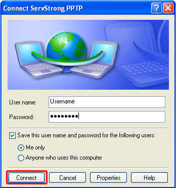 How to Setup a PPTP VPN on Windows XP Step 15