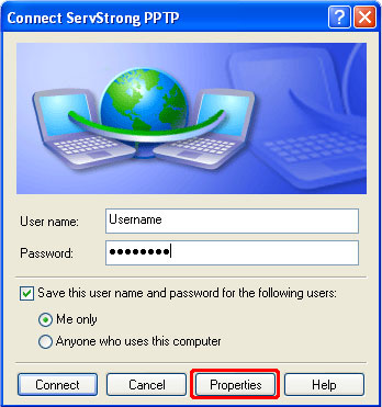How to Setup a PPTP VPN on Windows XP Step 16