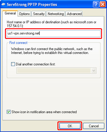 How to Setup a PPTP VPN on Windows XP Step 17