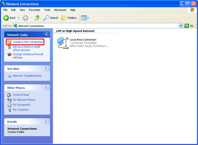 How to Setup a PPTP VPN on Windows XP Step 2
