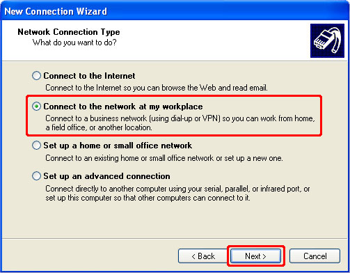 How to Setup a PPTP VPN on Windows XP Step 4