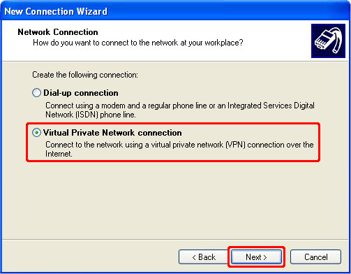 How to Setup a PPTP VPN on Windows XP Step 5