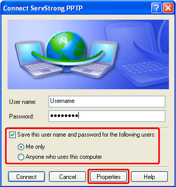 How to Setup a PPTP VPN on Windows XP Step 9